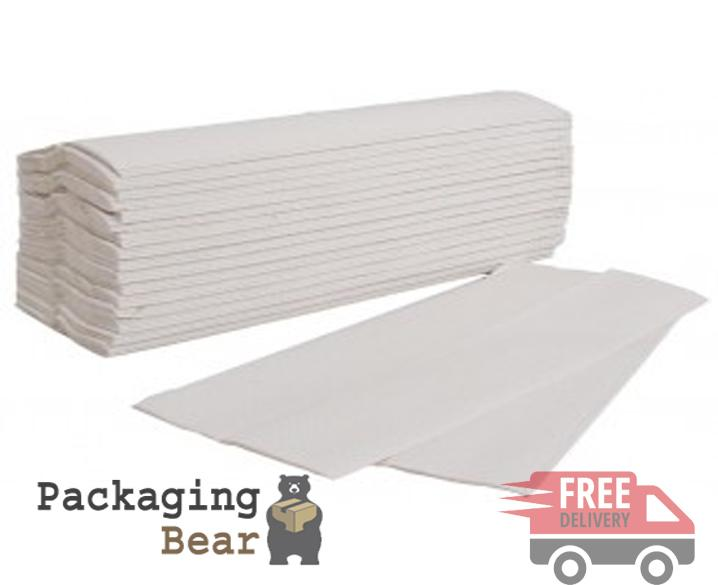 C-Fold White Hand Paper Towels 2 Ply Packagingbear.co.uk