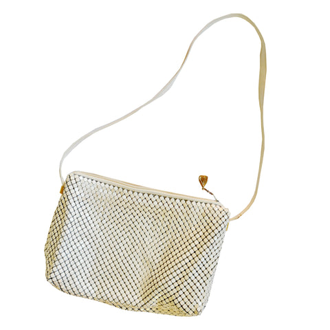 *Vintage* Whiting and Davis White Mesh Purse