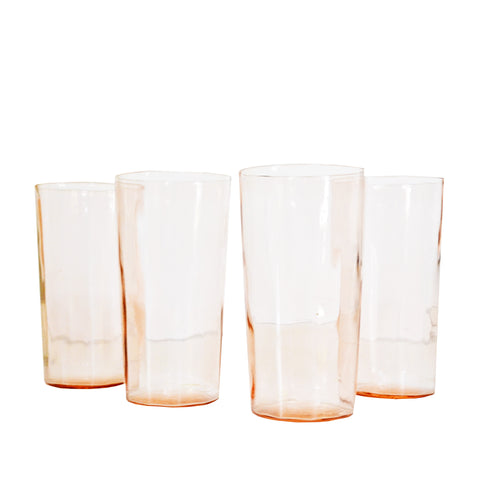 Pink Glassware - Set of 4