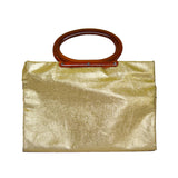 *Vintage* Convertible Gold Clutch to Tote