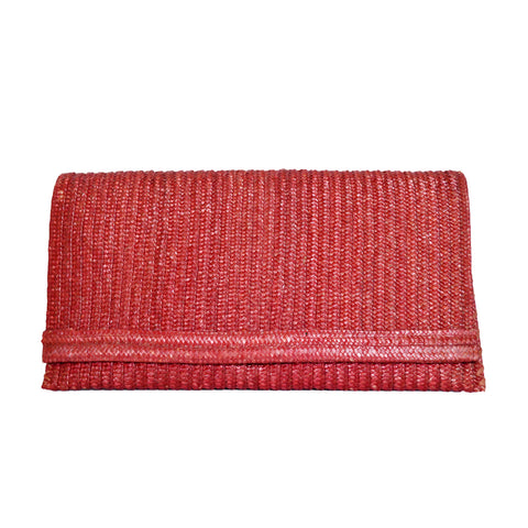 *Vintage* Large Italian Straw Clutch
