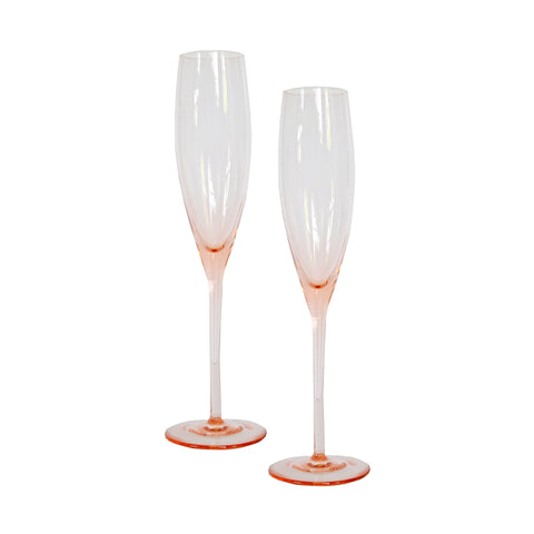 Blush Champagne Glasses- Set of 2