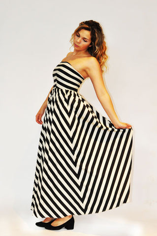 Stripped Maxi dress by Covet