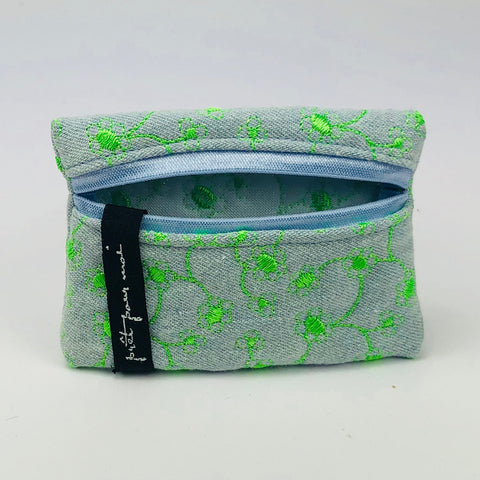 Mini Case East Village jeans light blue/neon green