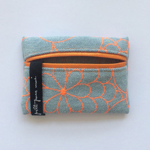 Mini Case Mila light jeans/neon orange
