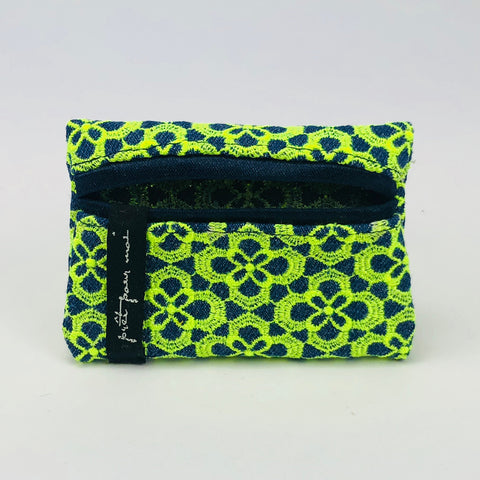 MIni Case Queens jeans dark blue/neon lemon