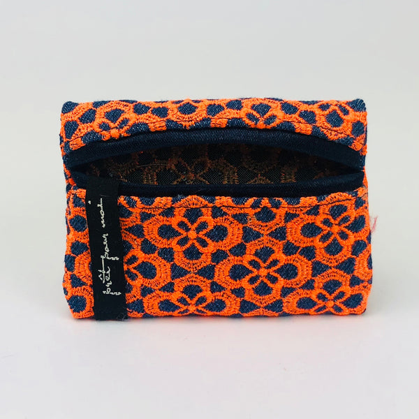 MIni Case Queens jeans dark blue/neon orange