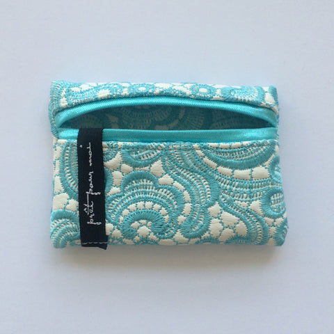 Mini Case Tiffany white/aqua