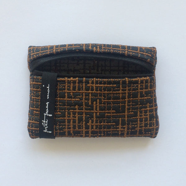 Mini Case Wallstreet black/cognac