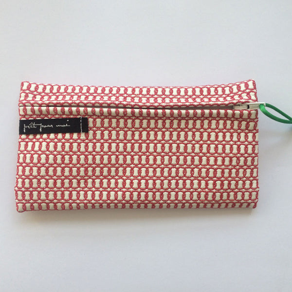 Simple Purse Broadway white/raspberry