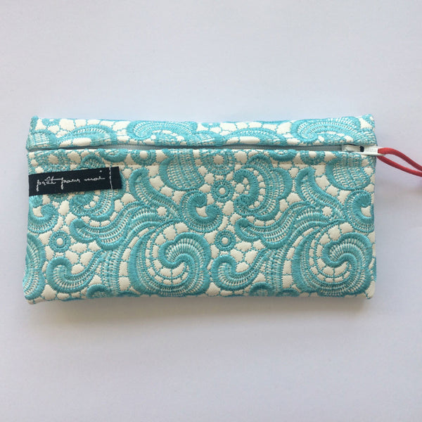 Simple Purse Tiffany white/aqua