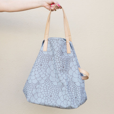 Tote Bag Mini Mila light grey/dark brown