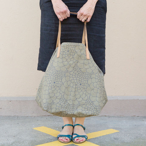 Tote Bag Big Mila light sage/jeans