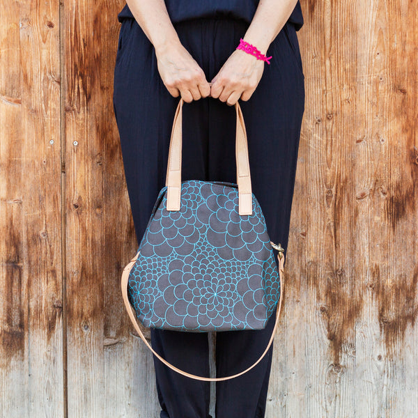 Tote Bag Mini Mila dark grey/aquamarine