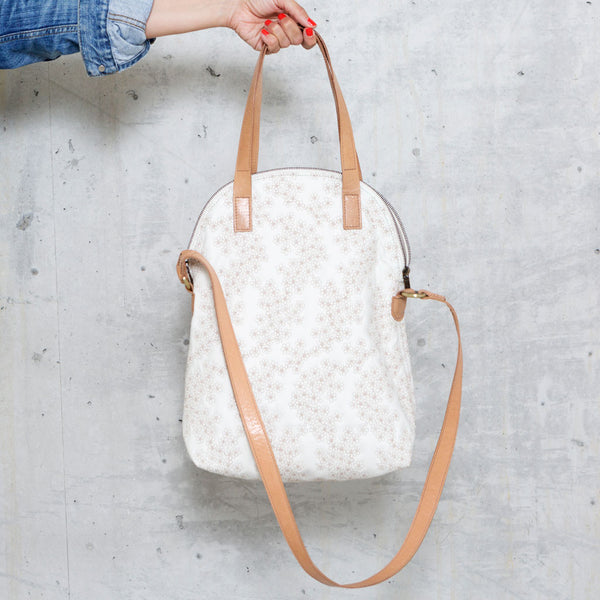 Thee Bag Big Mille Fleurs white/sand