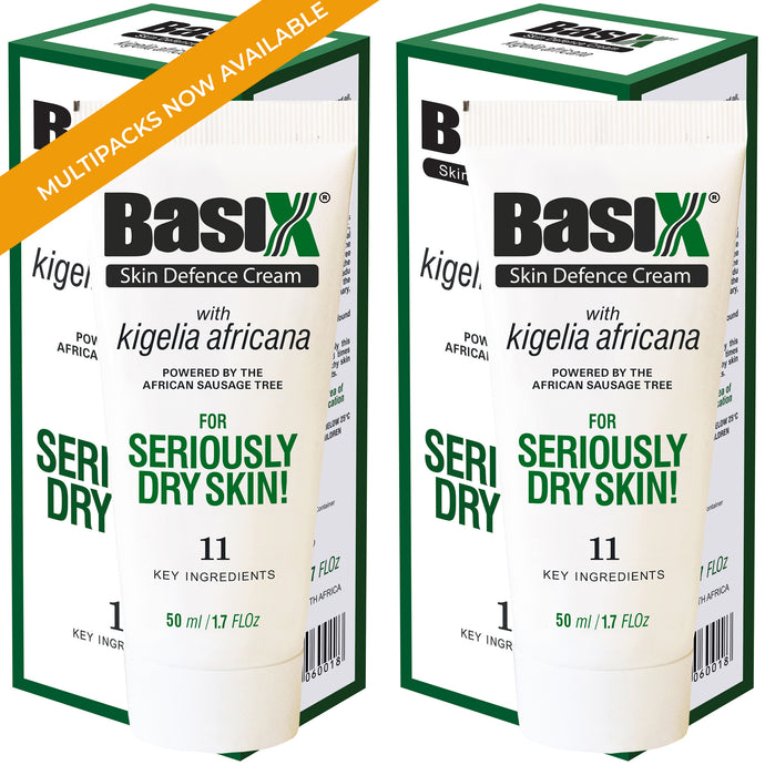 Basix Skin Defence Repair Cream - TWIN PACK [100ml] - Soothes Dry Skin Caused by Eczema, Psoriasis & Dermatitis