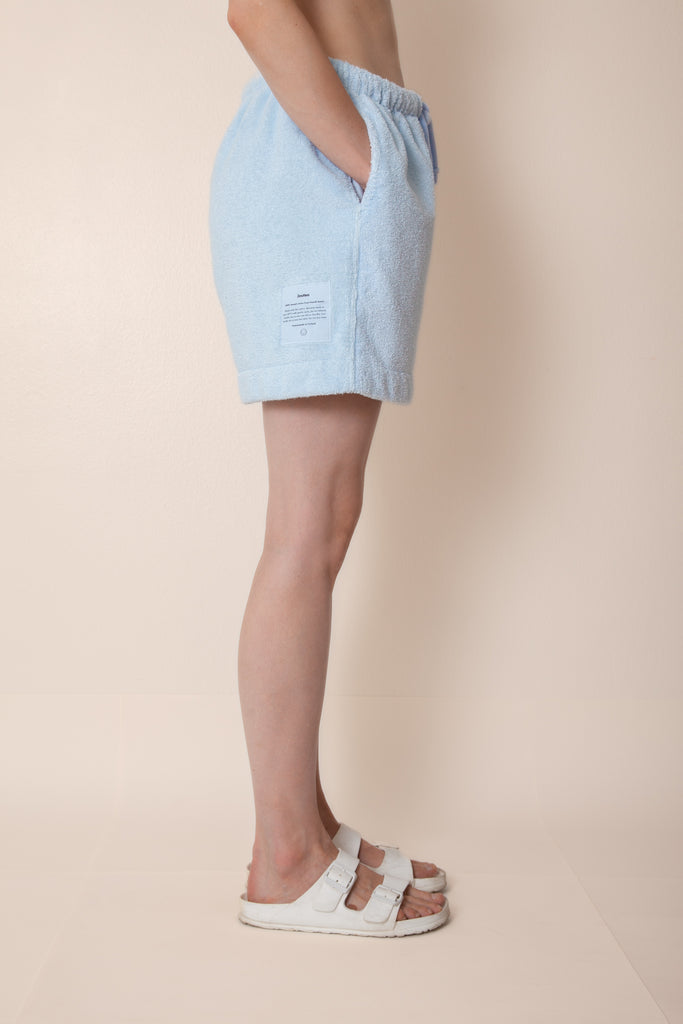 Unisex Terry Minishorts in Cloudy Blue