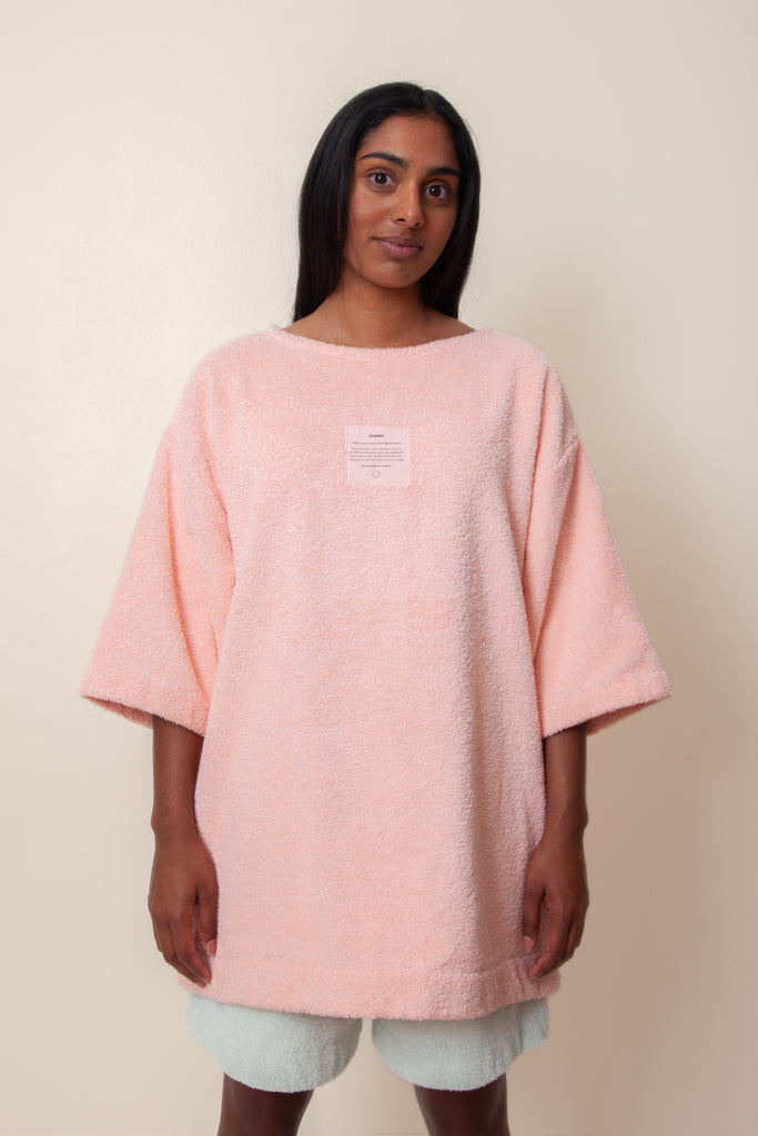 Unisex Terry Half Sleeve in Flamingo
