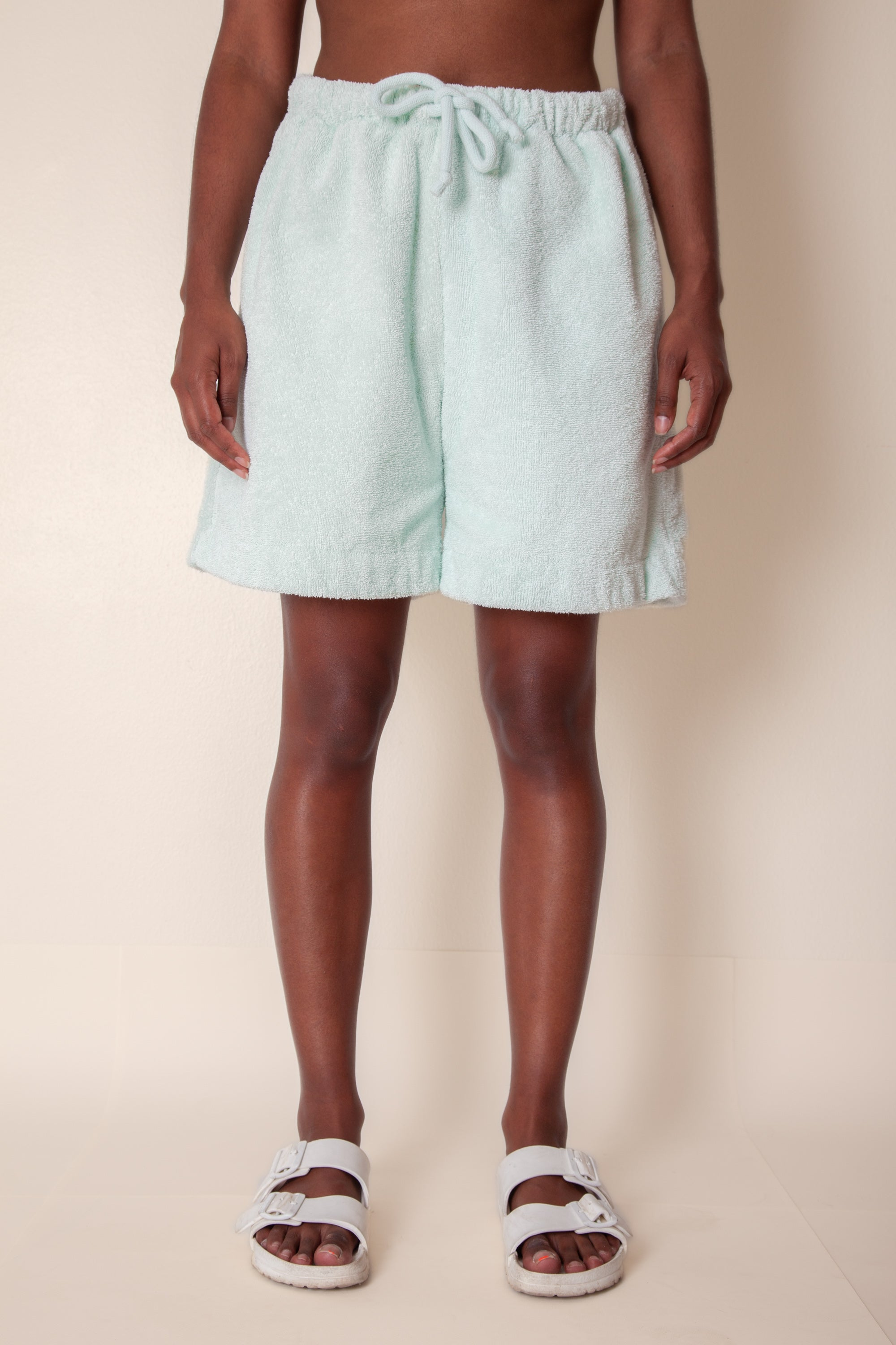 Unisex Terry Basketball Shorts in Ice Mint