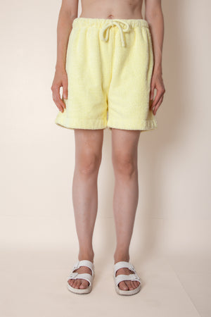 Unisex Terry Basketball Shorts in Lemon