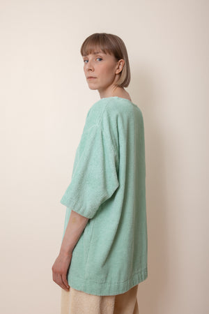 Unisex Terry Half Sleeve in Mint