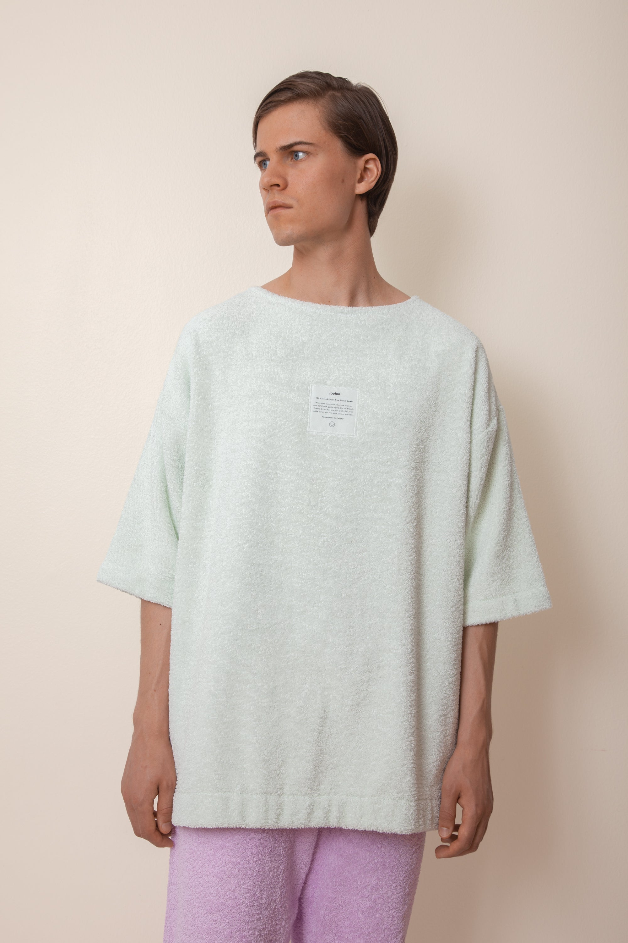 Unisex Terry Half Sleeve in Ice Mint