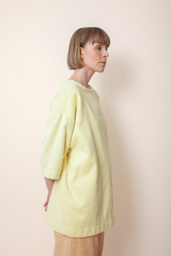 Unisex Terry Half Sleeve in Lemon
