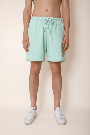 Unisex Terry Basketball Shorts in Mint
