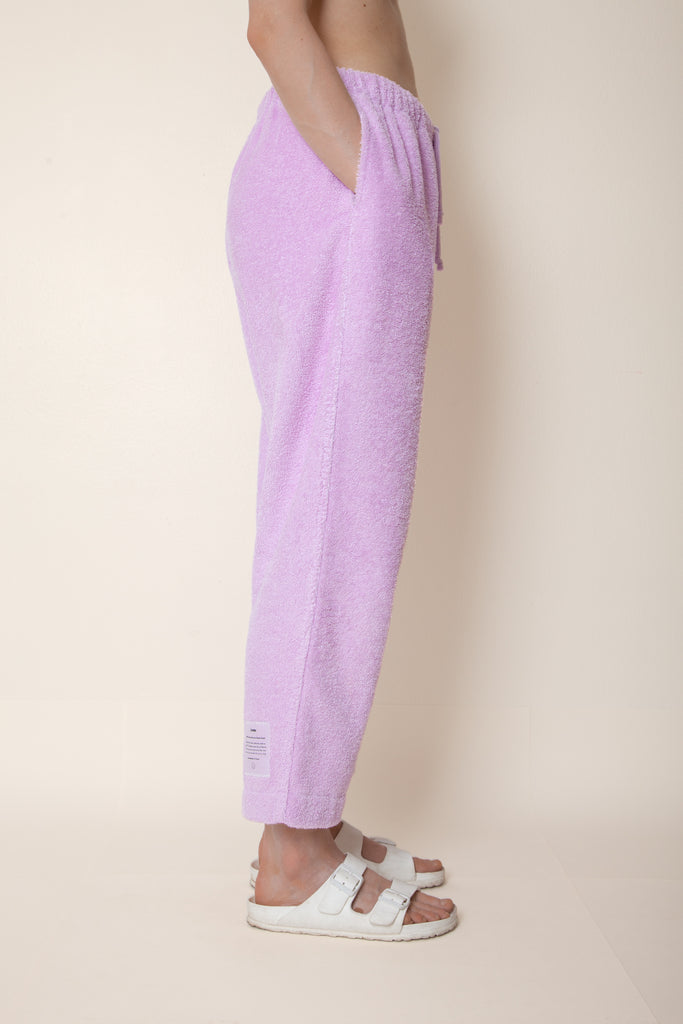 Unisex Cropped Terry Pants in Lupine