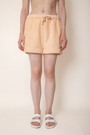 Unisex Terry Minishorts in Peach