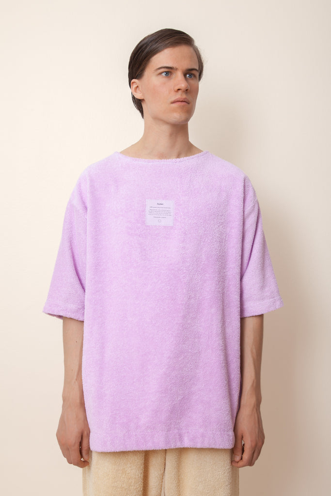 Unisex Terry Half Sleeve in Lupine