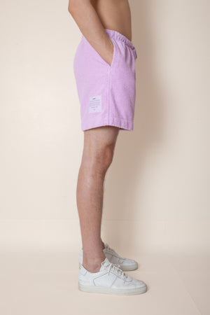 Unisex Terry Minishorts in Lupine
