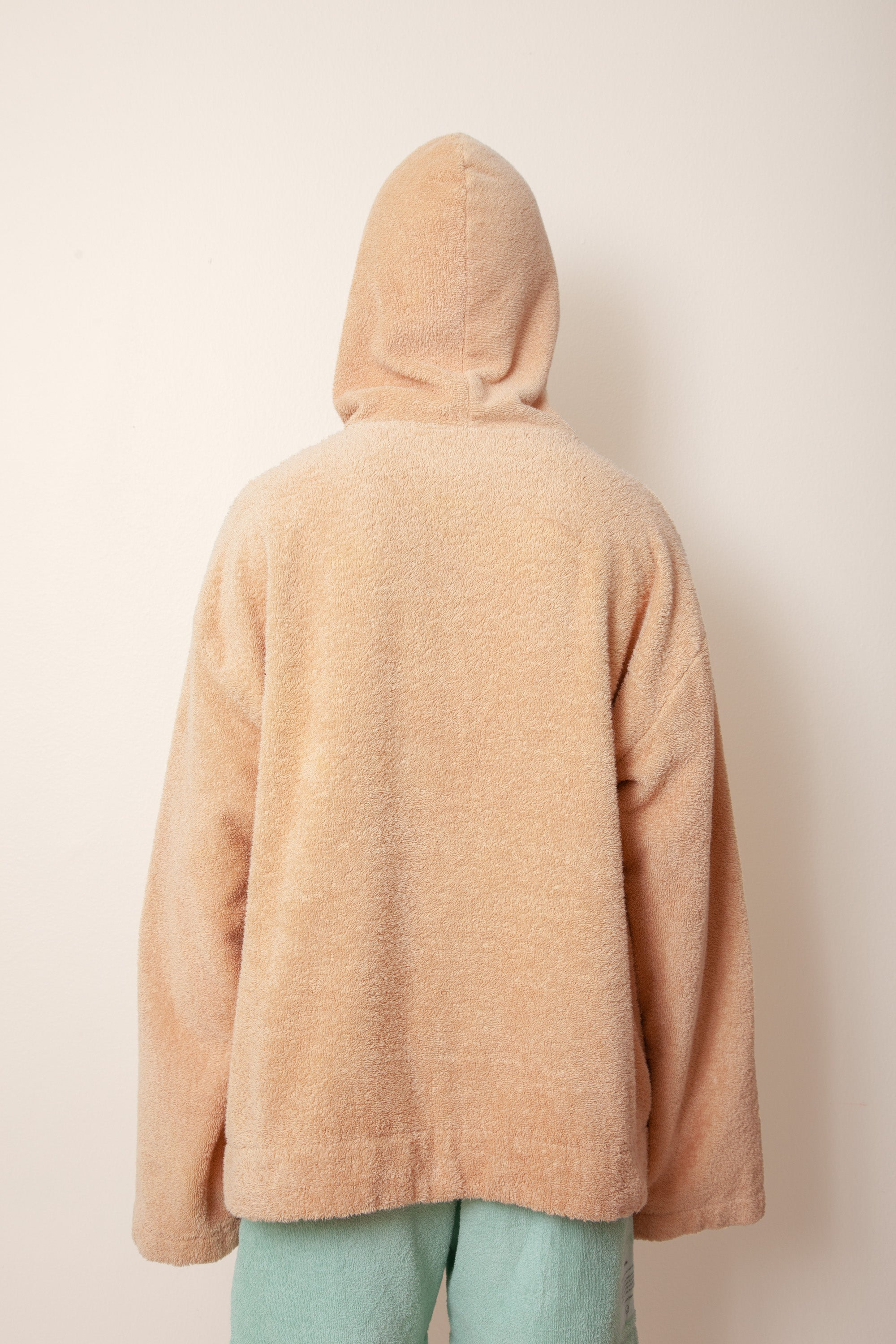 Unisex Oversized Terry Hoodie in Coffee