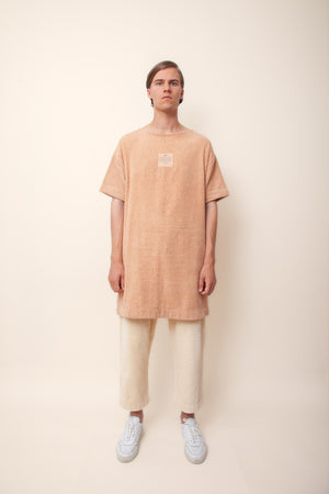 Unisex Overlong Terry Shirt in Coffee