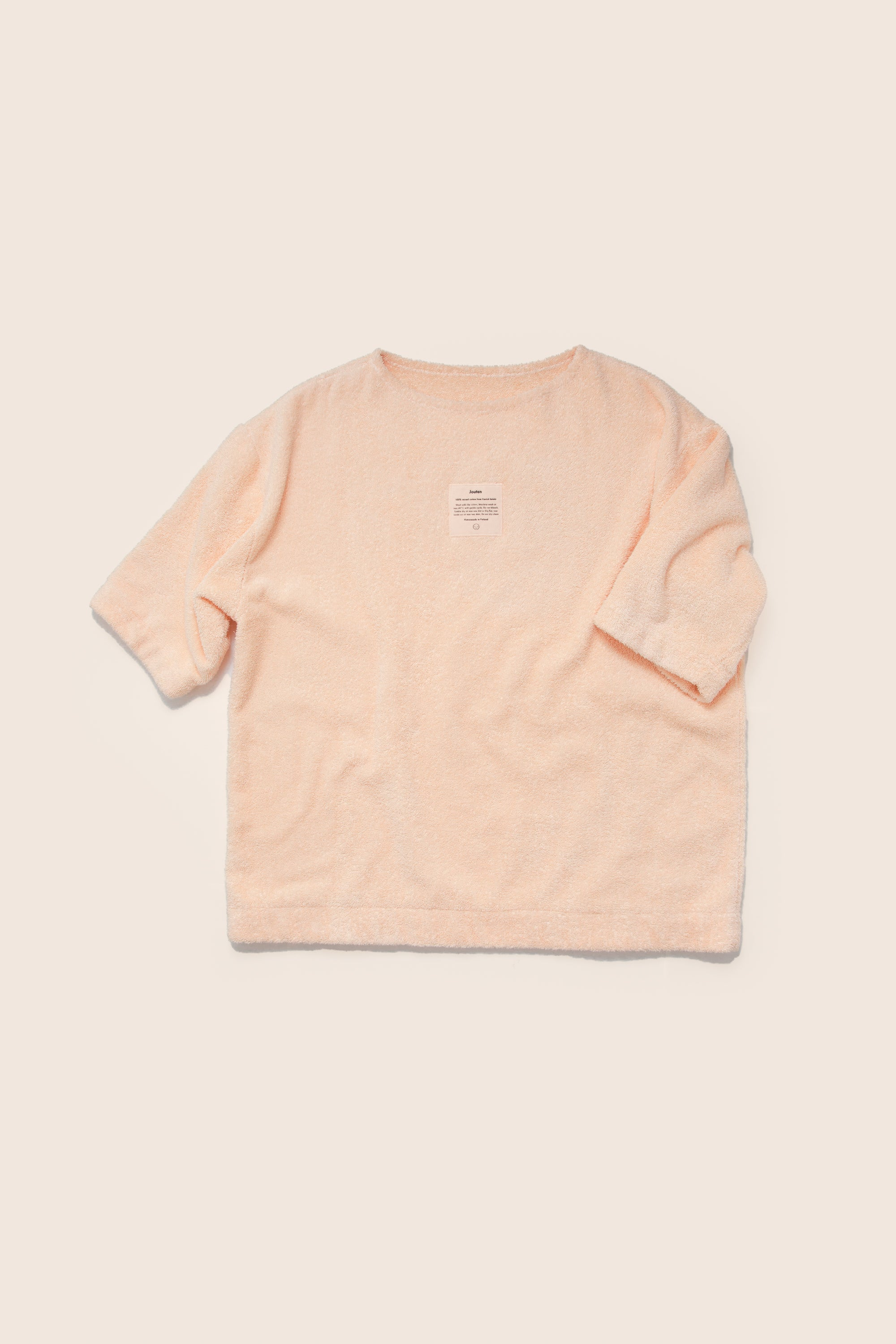 Unisex Terry Half Sleeve in Peach
