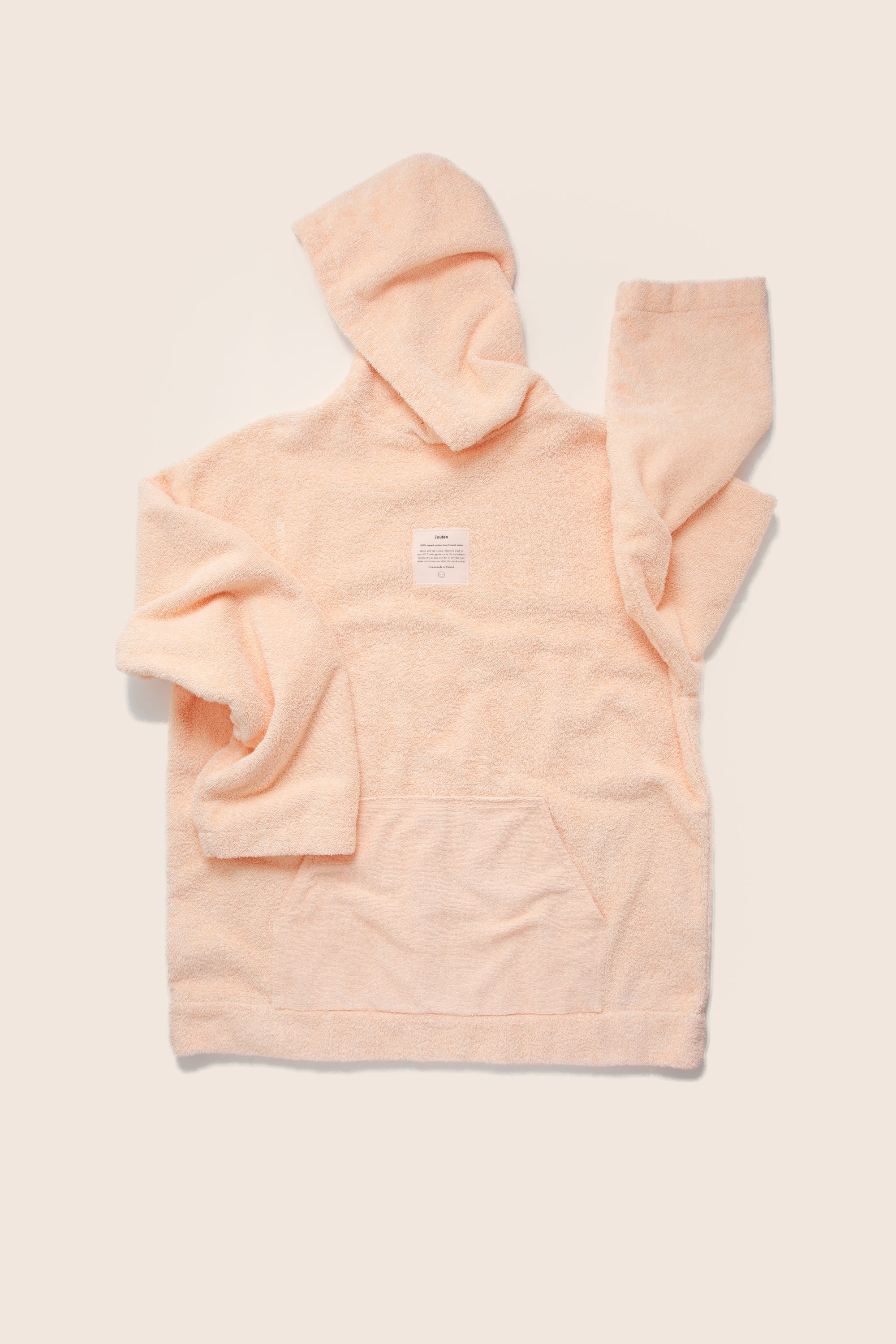 Unisex Oversized Terry Hoodie in Peach
