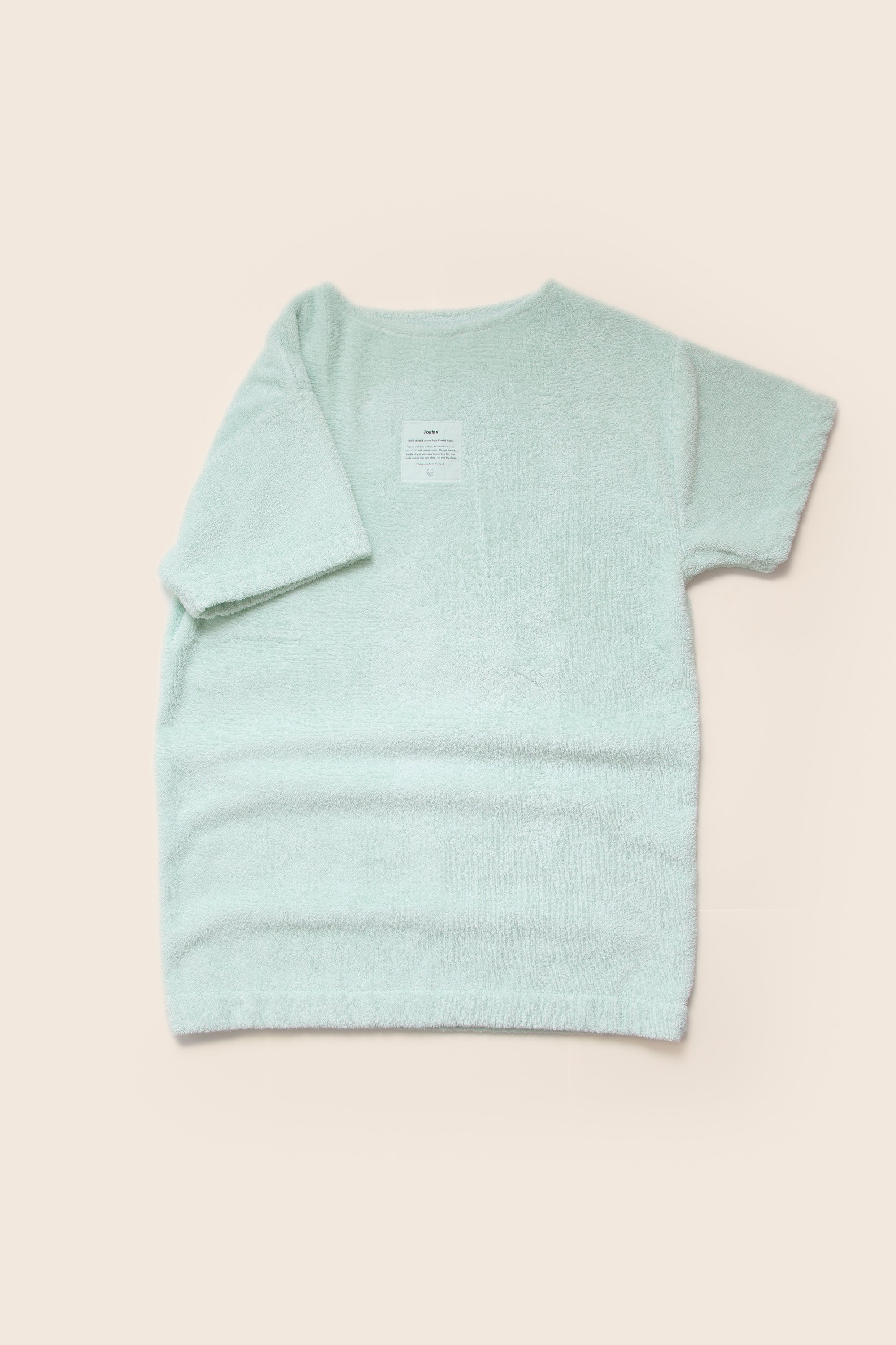 Unisex Overlong Terry Shirt in Ice Mint