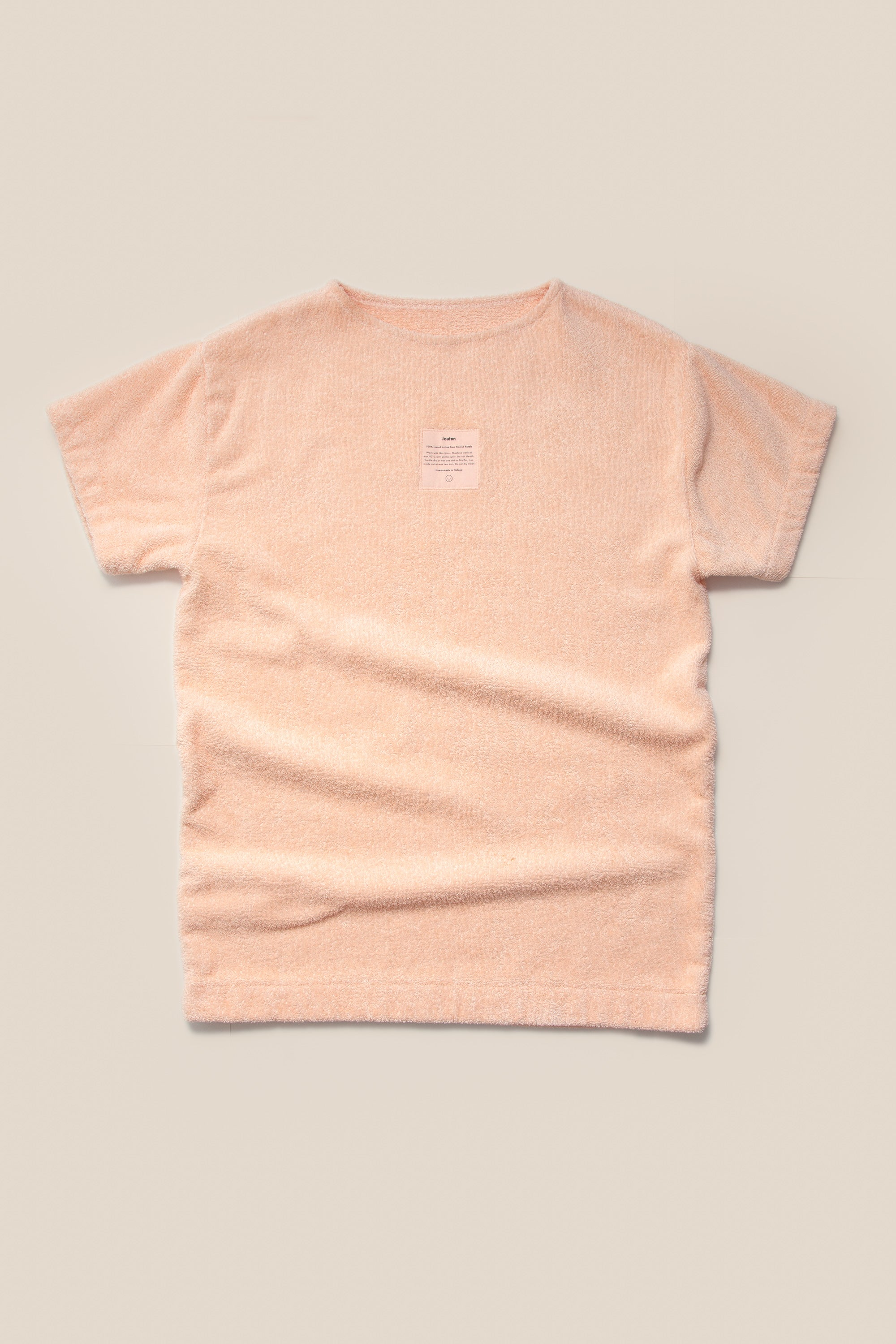 Unisex Overlong Terry Shirt in Peach