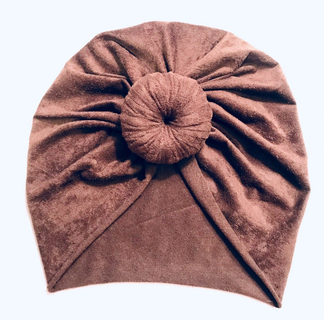 Baby Turban Chocolate Suede|Baby Turban|Adult Turban|Top Knot Turban|Top Knot Baby Hat|Kids Turbans|Toddler Turban|Bun Turban|Newborn Tur