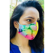 Load image into Gallery viewer, Tie Dye Print Face Mask with Filter Pocket -Face Mask Pattern- FAST SHIPPING -Made in USA - 100% Cotton Face Mask - Washable Face Mask -