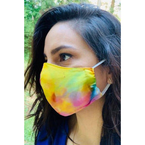 Tie Dye Print Face Mask with Filter Pocket -Face Mask Pattern- FAST SHIPPING -Made in USA - 100% Cotton Face Mask - Washable Face Mask -