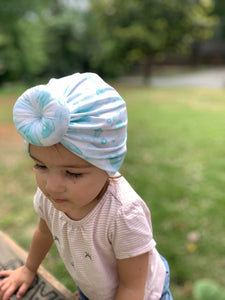 Aqua Blue Baby Turban|Adult Turban|Top Knot Turban|Top Knot Baby Hat|Kids Turbans|Toddler Turban|Bun Turban|Newborn Hat|Chemo Hat