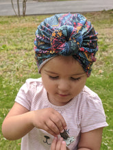 Load image into Gallery viewer, Rainbow Tribal Doughnut Turban Headwrap|Baby Turban|Adult Turban|Chemo Headwrap|Top Knot Baby Hat|Kids Turbans|Toddler Turban|Bun Turban