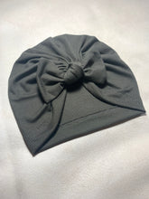Load image into Gallery viewer, Army Green Bow Turban Headwrap|Baby Turban|Newborn Turban|Adult Turban|Top Knot Turban|Top Knot Baby Hat|Kids Turbans|Toddler Turban