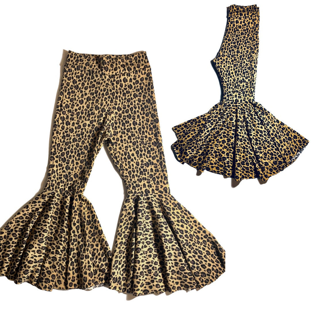 Night Fever Leopard Flare Pants|Kids Bell Bottoms|Newborn Flare Pants|Bell Bottoms|Hippie Flare Pants|Wide Leg Pants| Baby Bell Bottoms|Boho