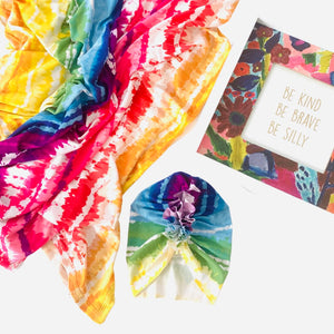 Rainbow Baby Newborn Swaddle Set|Swaddle+Headwrap Set|Swaddle|Newborn Baby Gifts|Baby Shower Gift|Baby First Outfit|Hospital Outfit