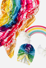Load image into Gallery viewer, Rainbow Baby Newborn Swaddle Set|Swaddle+Headwrap Set|Swaddle|Newborn Baby Gifts|Baby Shower Gift|Baby First Outfit|Hospital Outfit