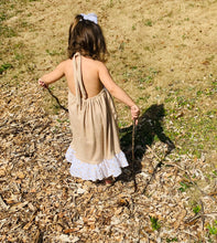 Load image into Gallery viewer, Olivia Boho Halter Dress|Kids Boho Chic Dress|Girls Halter Dress|Baby Spring/Summer Dress|Wholesome Goods Co