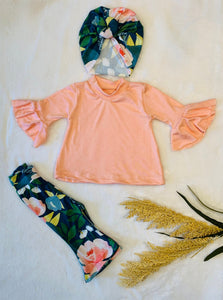 Blossom Bell Bottoms and Bell Sleeve Shirt Spring/Summer Outfit |Kids Bell Bottoms|Newborn Flare Pants||Hippie Flare Pants|Baby Bell Bottoms