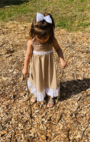 Olivia Boho Halter Dress|Kids Boho Chic Dress|Girls Halter Dress|Baby Spring/Summer Dress|Wholesome Goods Co